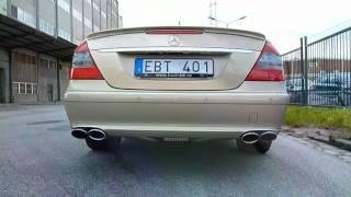 Mercedes E420 CDI Straight Pipe Exhaust Sound