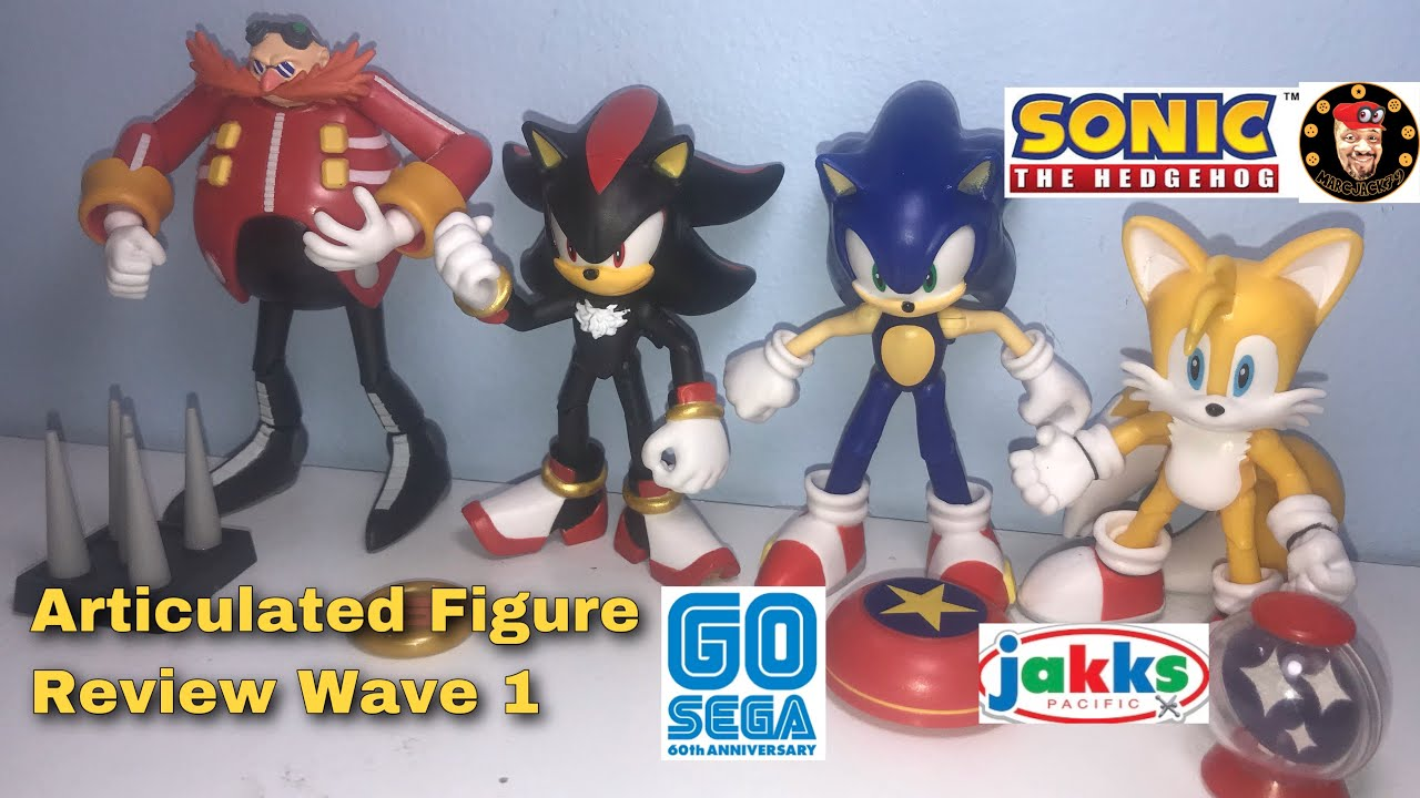 Jakks 60th Sega Anniversary Sonic The Hedgehog Articulated Figures Wave 1 Review Youtube