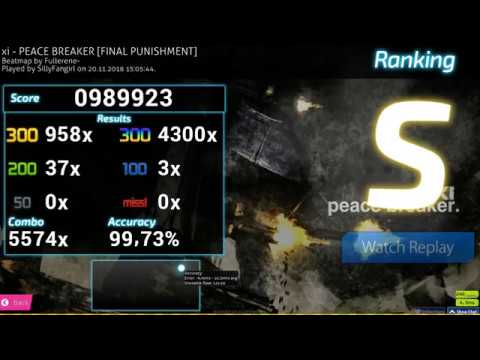 osumania  SillyFangirl  xi - PEACE BREAKER FINAL PUNISHMENT 9973% 989923 FC 1 LOVED