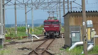JR青森駅 EF81形回送(215系 甲種輸送) 2021.05.25
