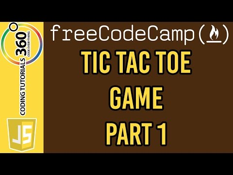 Tic Tac Toe Game Part 1 jQuery: Free Code Camp Advanced Front End Projects