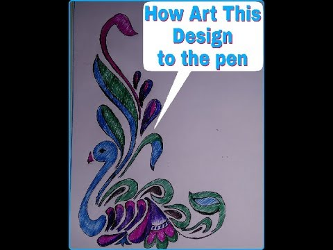 Floral Design 01 How Draw Project First Page Design Youtube