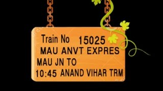 Train No 15025 Train Name MAUANVT EXPRES MAU MUHAMMADABAD AZAMGARH SHAHGANJ  AKBARPUR FAIZABAD