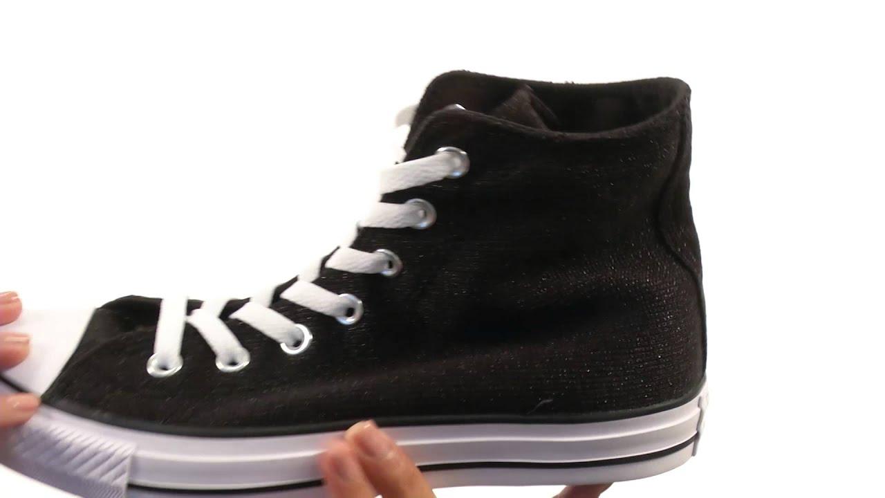c7180267b14 Converse Chuck Taylor® All Star® Sparkle Knit Hi SKU 8587424 - YouTube