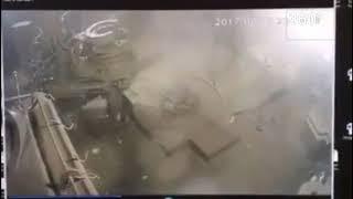 Взрыв на нефтегазовой скважине в Югре сняли на камеру видеонаблюдения