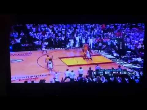 Lebrons buzzer beat against the pacers 2013