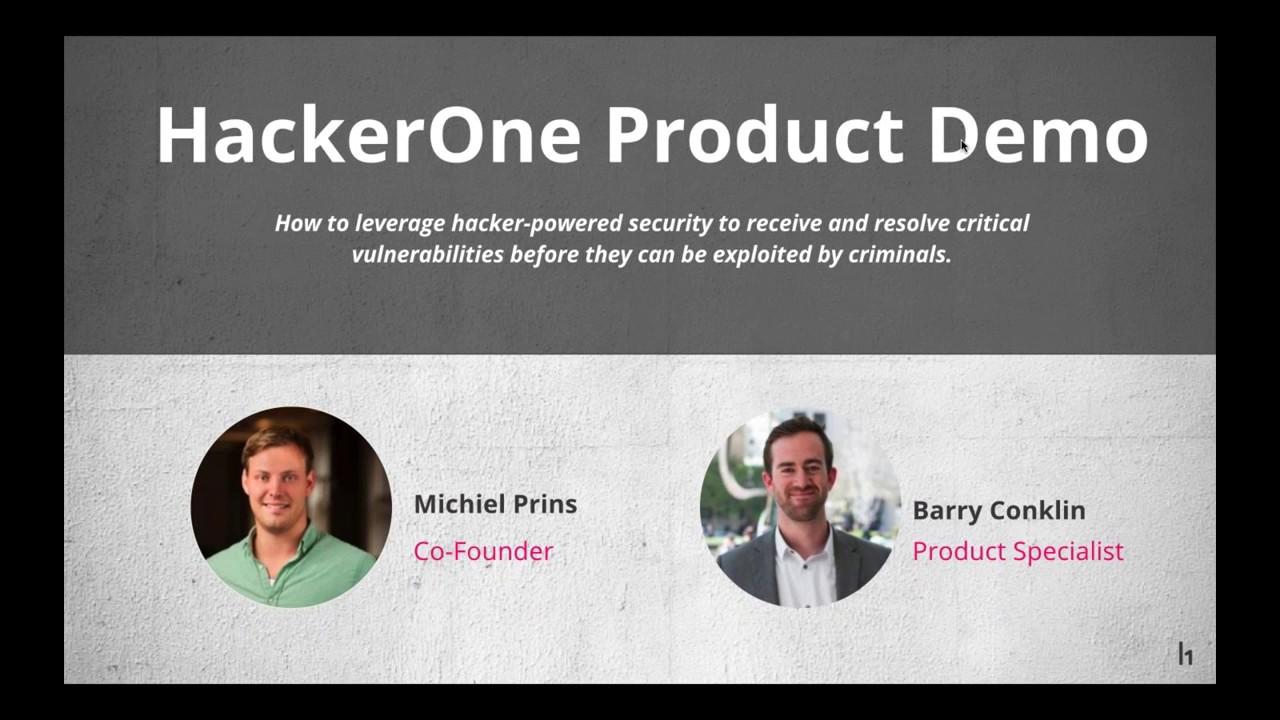 Bug Bounty Product Demo with HackerOne Co-Founder Michiel ...