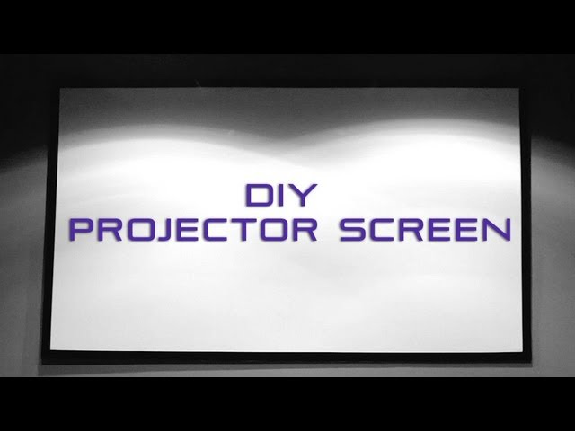3 Ways to Make a Projector Screen - wikiHow