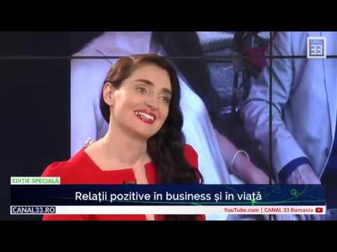 """Tamara Schobel: """"Relații pozitive în business și în viață"""" - la Canal 33"""