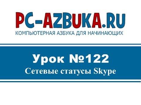 Урок #122. Сетевые статусы Skype