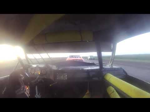 2013 Hancock County Speedway Stock Car Feature - Heath Tulp collision with Jake Masters #11
