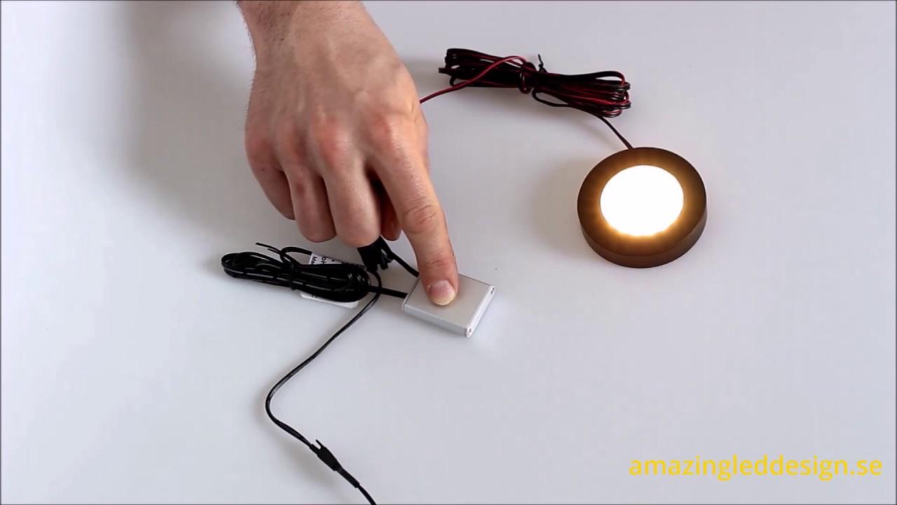 Inredning 12 volt belysning : DesignLight Touch - Strömbrytare & LED Dimmer 12V - YouTube