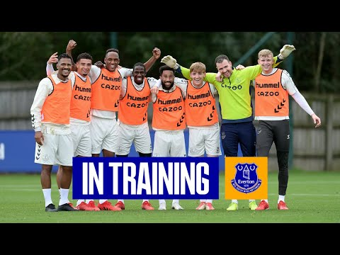 BLUES GETS READY FOR MAN UNITED |  EVERTON IN TRAINING