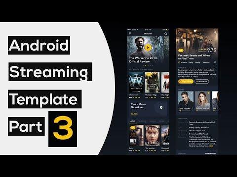 Movie Streaming UI Template part3: Horizontal Movie List   Android Studio Tutorial
