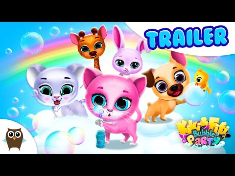 Get Ready For A Party With Cute Pets🎉 Kiki & Fifi Bubble Party   TutoTOONS Cartoons & Games For Kids