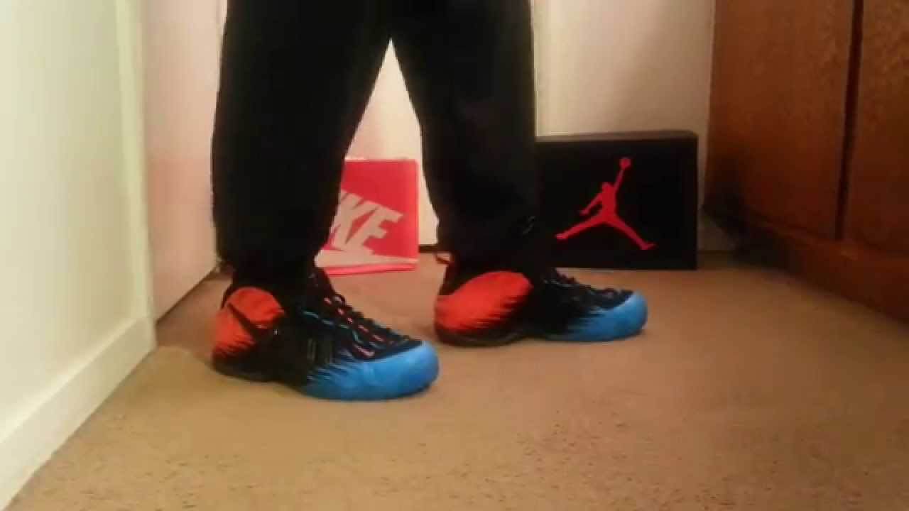 fb55c340e89 ON FOOT  Spiderman Foamposite   - YouTube