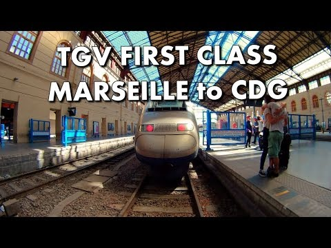 TGV TRAIN - FIRST CLASS SEAT TOUR - Marseille to CDG - France