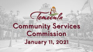 Community Services Commission - January 11, 2021