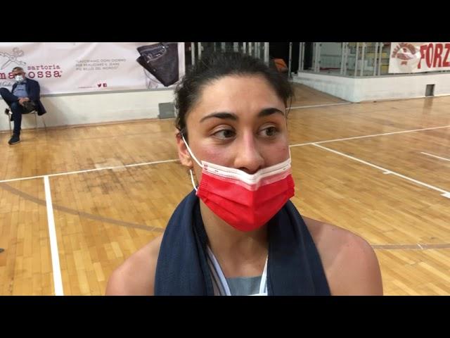 Basket A2 - Federica Monaco in chiusura di stagione 2020 2021
