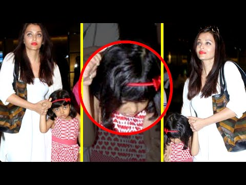 Aaradhya Bachchan Gets Scared, Spotted With Aishwarya Rai At Mumbai Airport | Dubai Vacation