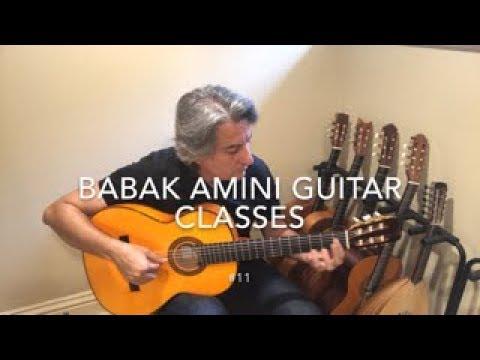 BABAK AMINI GUITAR CLASSES #11, POP #6