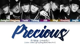 Ateez  에이티즈  - Precious  Color Coded Lyrics/eng/rom/han/가사