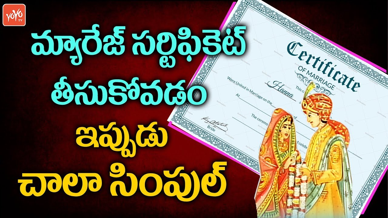 Marriage Certificate Registration Process Marriage Registration