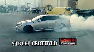 KandyonChrome: Cadillac CTS-V Wagon Supercharged 900 foot burnout!