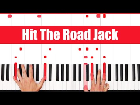 Hit The Road Jack Ray Charles Piano Tutorial - EASY