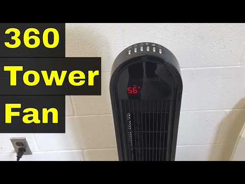 Ozeri 360 Tower Fan Review-Great For Air Circulation-OZF5