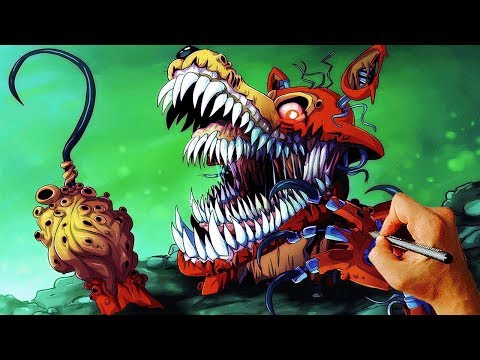 How to Draw Twisted Foxy - Livestream Drawing - Part1 #1