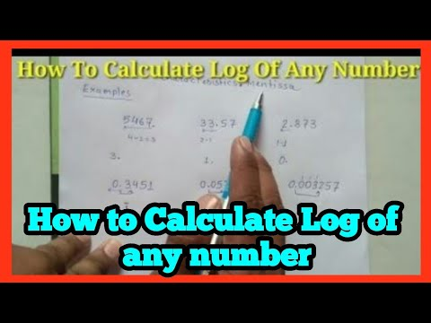 How to find log value of any number ||in hindi//in english{Science maths}