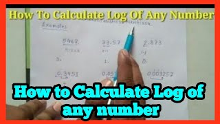 How to find l๐g value of any number ||in hindi//in english{Science maths}