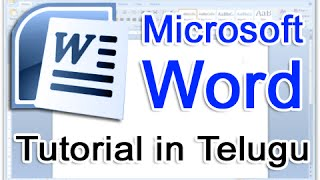Ms Word in Telugu - Complete Video Tutorial