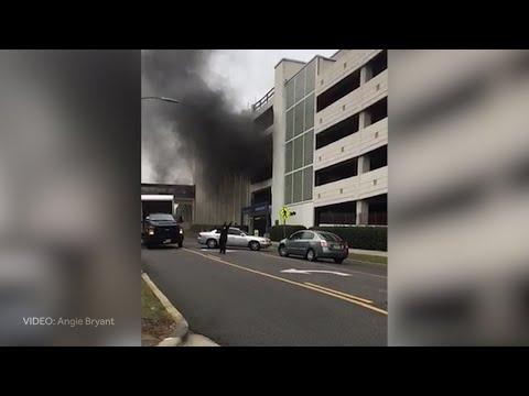 VIDEO: Car Fire In St. Vincent's Hospital Parking Deck In Birmingham