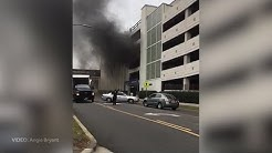 VIDEO: Car fire in St. Vincent's Hospital parking deck in Birmingham