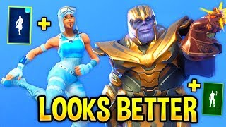 Ces danses Fortnite Look Better With These Skins..! (LOOKS ' SOUND BETTER)