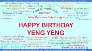 YengYeng   Languages Idiomas - Happy Birthday