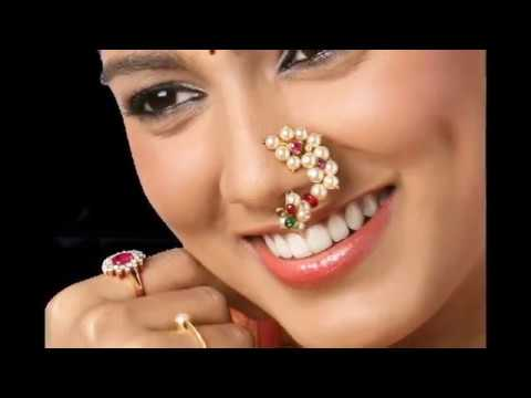 Gold And Pearl Nose Rings Maharashtrian Style Nath Designs