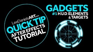 QUICK TIP | After Effects | GADGETS #1 | HUD Elements & Targets
