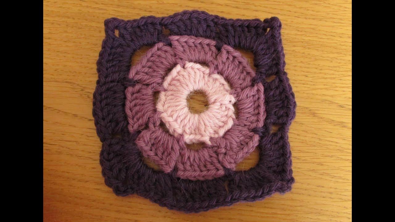 crochet granny square tutorial for beginners - wheel granny square ...