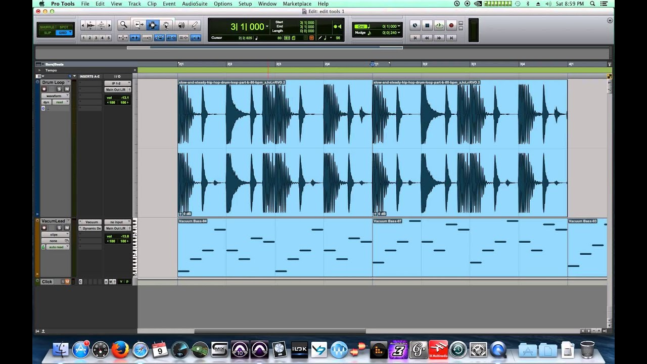 Pro Tools 11 - #05 - Edit Tools, pt.1 - Trim, Selector, Grabber, Smart Tool,  Working with Loops