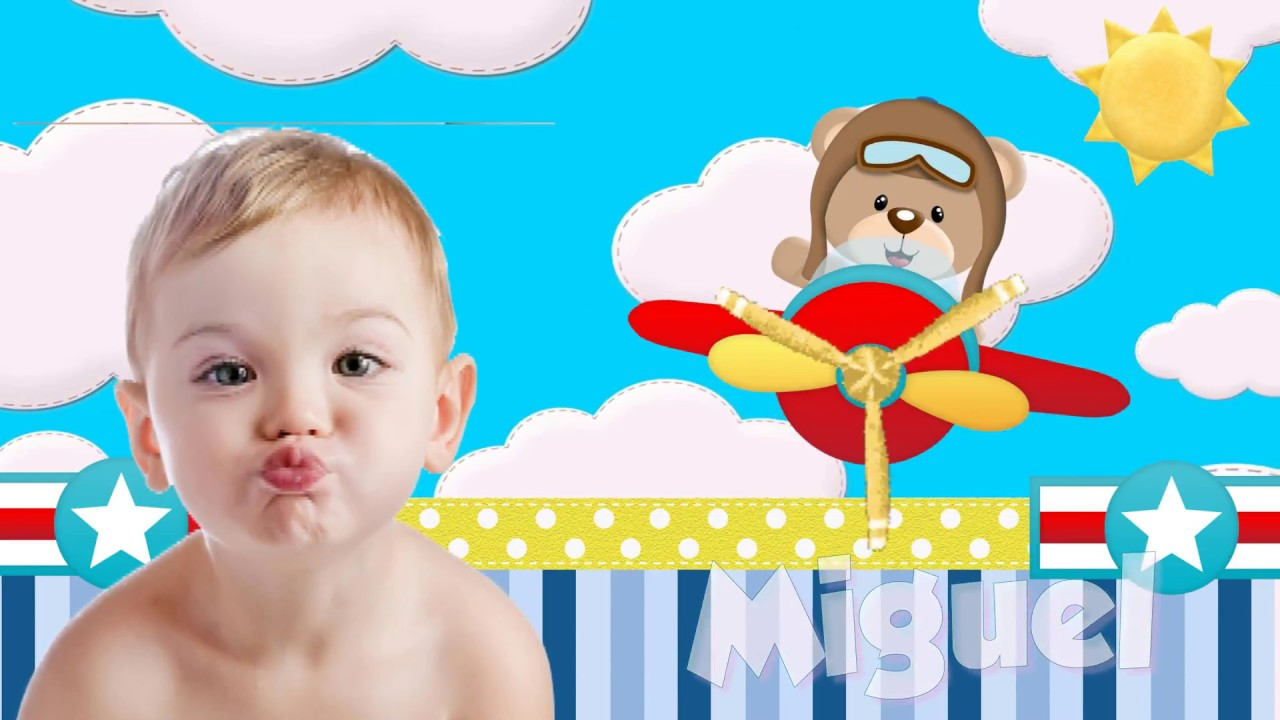 Projeto Proshow Ursinho Aviador 50 Fotos Capa Editavel Photoshop