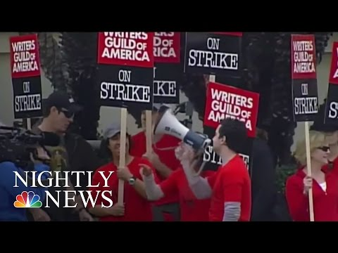 Hollywood Writers Inch Closer To Another Strike   NBC Nightly News
