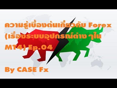 ความรู้เบื้องต้นเกี่ยวกับ Forex (เรื่องระบบอุปกรณ์ต่างๆใน MT4) Ep.04 By CASE Forex