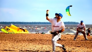 RUSSIAN BEACH BASEBALL // DRONE OVER WIND SURFERS | RUSSIA