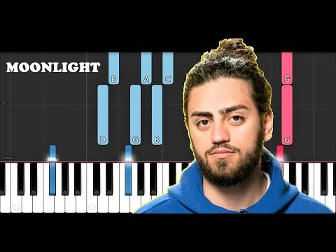 Ali Gatie - Moonlight (Piano Tutorial)
