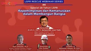 LSPR Rescue Webinar Series 4 - Kepemimpinan dan Kemanusiaan dalam Membangun Bangsa