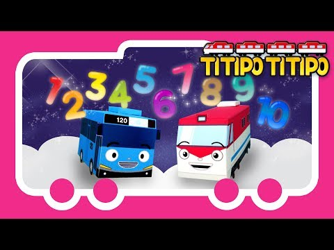 Titipo Songs l Titipo Number Song l Tayo Nursery Rhymes l Tayo the Little Bus