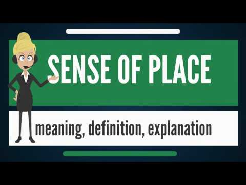 What is SENSE OF PLACE? What does SENSE OF PLACE mean? SENSE OF PLACE meaning & explanation